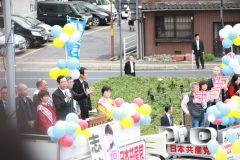 立憲野党統一候補5名×志位委員長×おかやまいっぽん 街頭宣伝